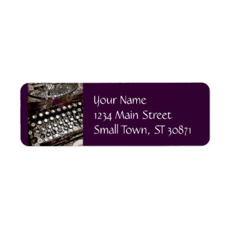 Cool Vintage Typewriter Modern Design Pop Art Return Address Label