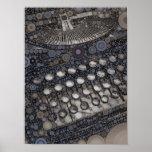 Cool Vintage Typewriter Modern Design Pop Art Poster