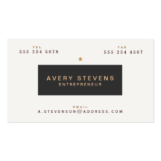 Cool Vintage Typography  Entrepreneur Professional Double-Sided Standard Business Cards (Pack Of 100)