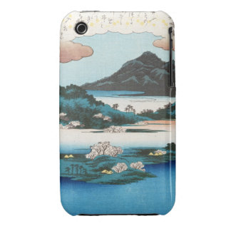 Cool vintage ukiyo-e japanese waterscape mountain iPhone 3 Case-Mate cases