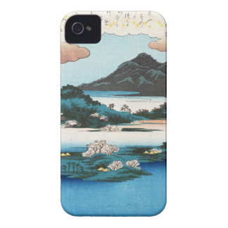 Cool vintage ukiyo-e japanese waterscape mountain iPhone 4 Case-Mate cases
