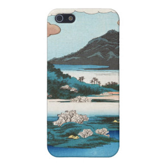 Cool vintage ukiyo-e japanese waterscape mountain iPhone SE/5/5s case