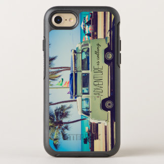 Cool Vintage Van Adventure Typography Quote OtterBox Symmetry iPhone 7 Case