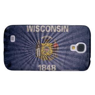 Cool Vintage Wisconsin Flag Samsung S4 Case