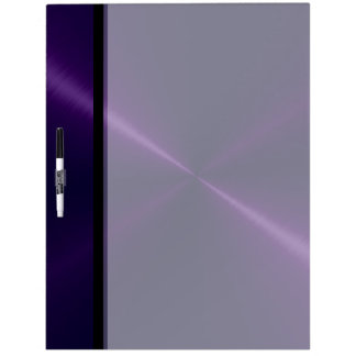 Cool Violet Shiny Stainless Steel Metal Dry Erase Board