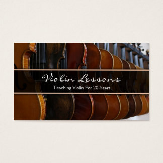 Cool Violin / Violinist Photograph - Business Card