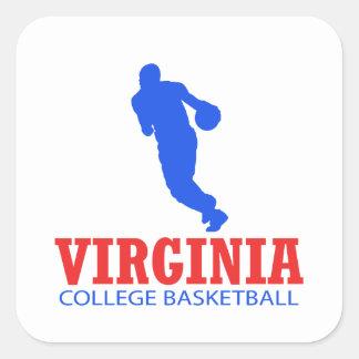 cool Virginia basketball DESIGNS Square Sticker