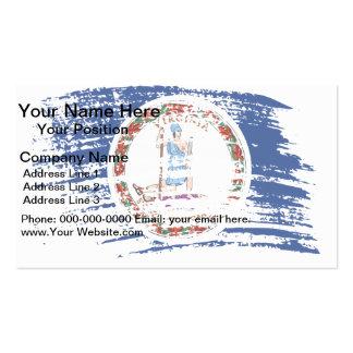Cool Virginian flag design Business Card Template