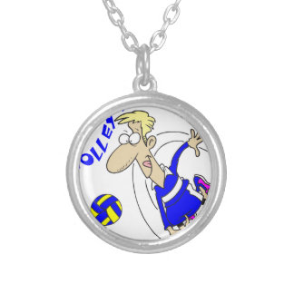 COOL VOLLEY DAD SILVER PLATED NECKLACE