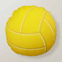 Cool Volleyball Beach Volleyball (Yellow Color) Round Pillow