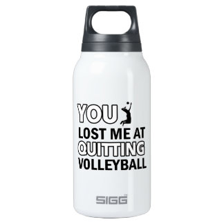 Cool volleyball designs insulated water bottle