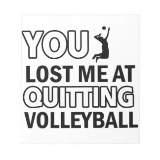 Cool volleyball designs note pads