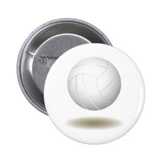 Cool Volleyball  Emblem 1 Pinback Buttons