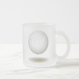 Cool Volleyball  Emblem 1 Frosted Glass Coffee Mug