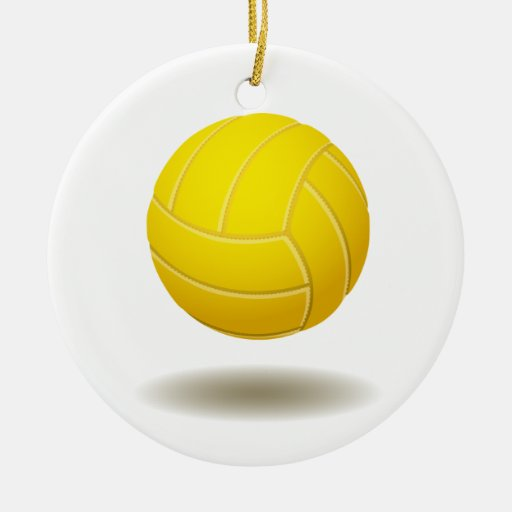 Cool Volleyball  Emblem 2 Christmas Tree Ornament
