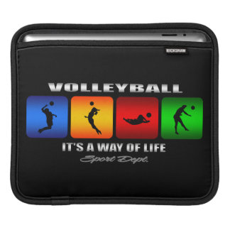 Cool Volleyball It Is A Way Of Life iPad Sleeve