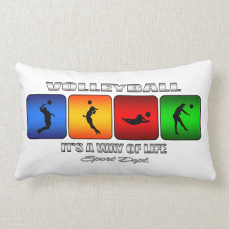 Cool Volleyball It Is A Way Of Life Lumbar Pillow