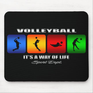 Cool Volleyball It Is A Way Of Life Mouse Pad