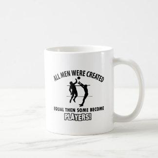 cool volleyball player design coffee mug