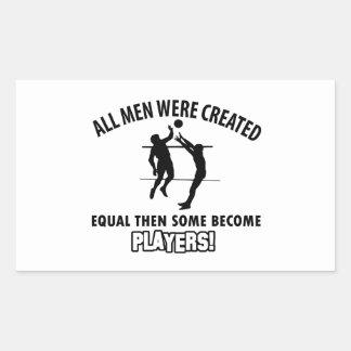 cool volleyball player design rectangular sticker