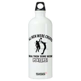 cool volleyball player design water bottle