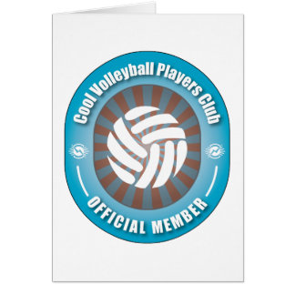 Cool Volleyball Players Club Greeting Cards