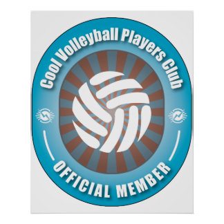 Cool Volleyball Players Club Poster