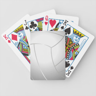 Cool Volleyball Playing Cards (White)