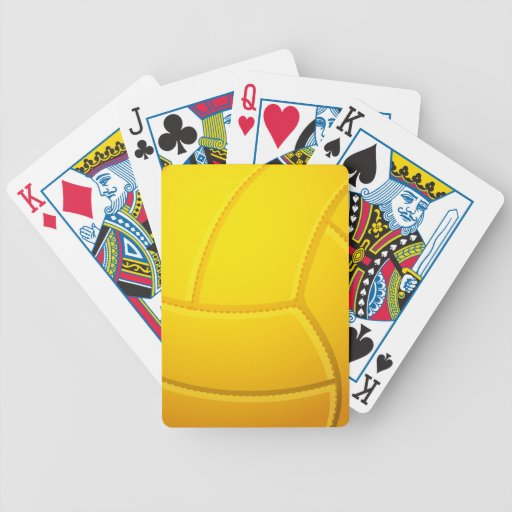 Cool Volleyball Playing Cards (Yellow)