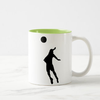 Cool Volleyball Two-Tone Coffee Mug