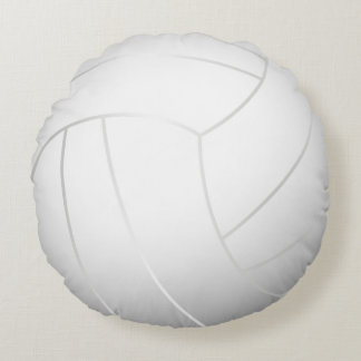 Cool Volleyball (White Color) Round Pillow