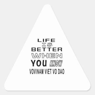 Cool Vovinam Viet vo Dao Designs Triangle Stickers