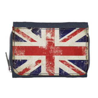 Cool Wallet with Distressed Great Britain Flag
