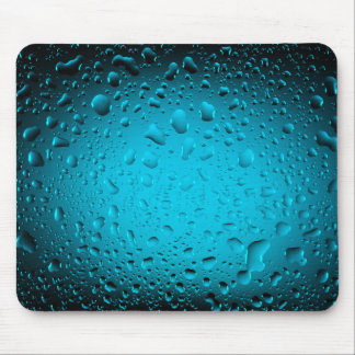Cool water drops blue mouse pad