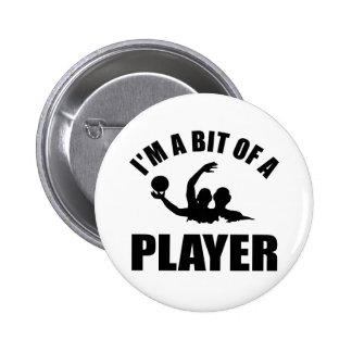 Cool Water polo design Pinback Button