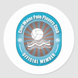 Cool Water Polo Players Club Classic Round Sticker