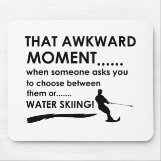 Cool water skiing  designs mouse pad