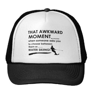 Cool water skiing  designs trucker hat