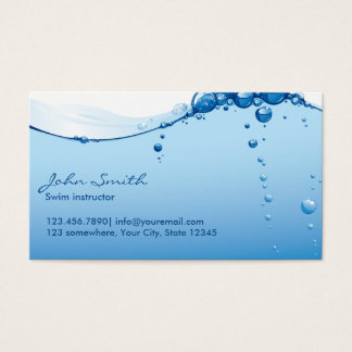 Cool Water Surface Swim Instructor Business Card