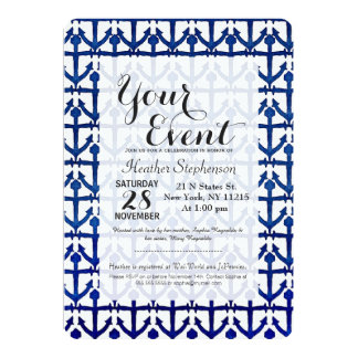 Cool Watercolor Painted Nautical Anchors 5x7 Paper Invitation Card