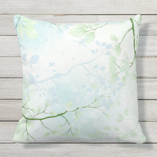 Cool Watercolor Rainforest by apassion4pixels Throw Pillow