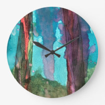Cool Watercolor Round Wall Clock