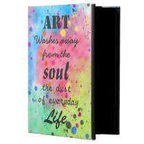 Cool watercolour famous quote iPad air case