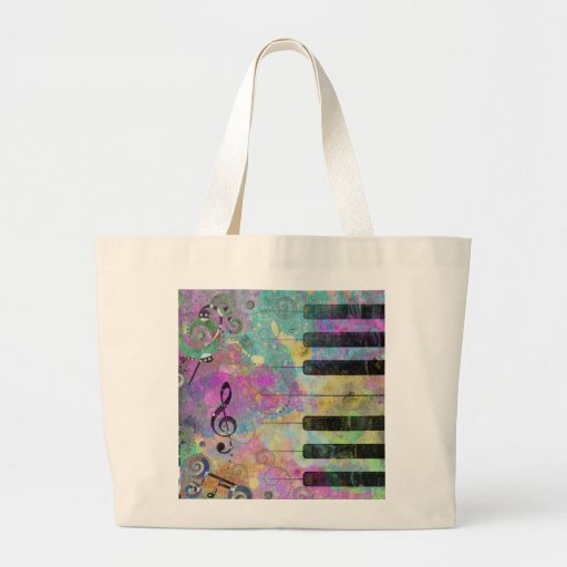 Cool watercolours splatters colourful piano bag