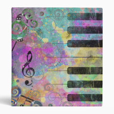 Cool Watercolours Splatters Colourful Piano Binder at Zazzle