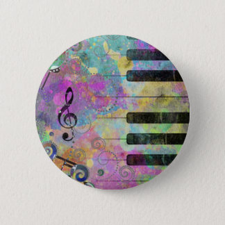 Cool watercolours splatters colourful piano button