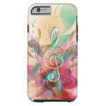 Cool watercolours treble clef music notes swirls iPhone 6 case