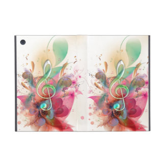 Cool watercolours treble clef music notes swirls case for iPad mini