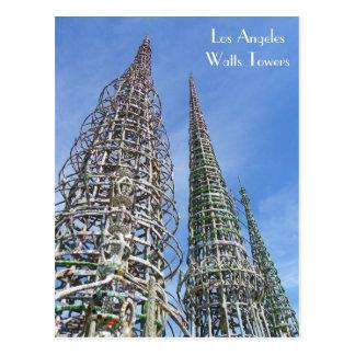 Cool Watts Towers Postcard! Postcard