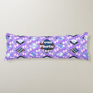 cool wave, quilted print with photo space body pillow